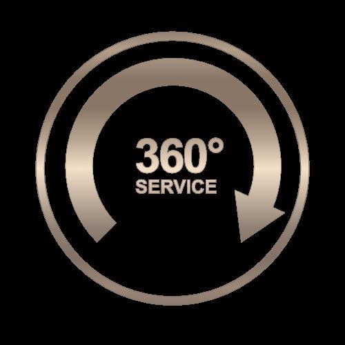 360° Grad Service Button